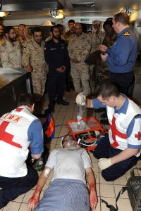 First Aid demonstration HMS Richmond