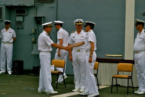 Cdre Sammut hands over Command to Rear Admiral Kerignard
