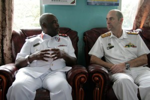 CDRE McHardie in Tanzania with Navy Commander, Rear Admiral Said Omar