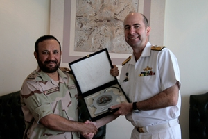 Cdre McHardie with Rear Admiral Saeed Al-Zahrani