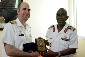 Commodore McHardie meets Djiboutian Navy Chief Colonel Abdourahman Aden Cher