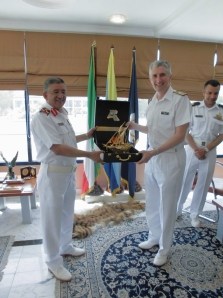 Brigadier-General Jassem Al-Ansari, Head of the Kuwaiti Navy and Commodore Simon Ancona RN, Deputy Commander CMF