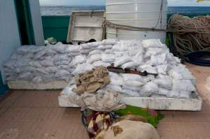 500 Kg of heroin seized by HMCS Toronto during Focussed Operation Southern Sweep.
