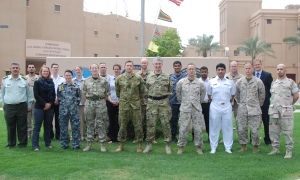 Attendees to the Second Maritime Security Operations Legal Workshop at CMF Headquarters in Bahrain