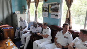 CTF 150 Staff members meet Tanzanian Navy Officers in Dar Es Salaam