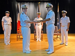 Captaine Herve Blejean hands over command of CTF 150 to Commodore Asif Khaliq