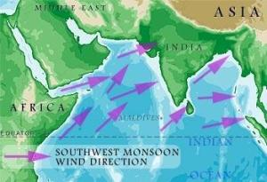 Chart of the South West Monsoon