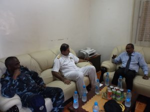 Commodore Asif Khaliq meeting with the Djiboutian Defence Minister S.E.M. Hassan Darar Houffaneh