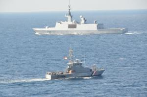 Combined Task Force 150 Operation Quwwat e Bahr underway in the Bab el Mandeb strait