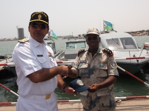Commodore Asif Khaliq (left) and Lieutenant Colonel Mohammad (right).
