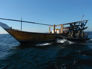 The Boarding Teams visit local dhows and fishing vessels and chat to the crew