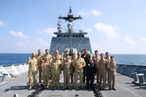 IMG_8401- Members of CTF 151 and NATO counter piracy task force who participated in an exercise together in the Gulf of Aden.