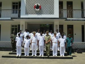 A delegation from Combined Task Force 150 led by Commodore Daryl Bates, Royal Australian Navy met with Commander and Principal Staff of the Tanzania Navy in Dar es Salaam.