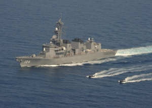 JS Samidare on patrol in the Gulf of Aden.  Photo: JMSDF