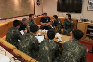 Plenary Session with EU Naval Force personnel and Ship's Company from ROKS Munmu the Great