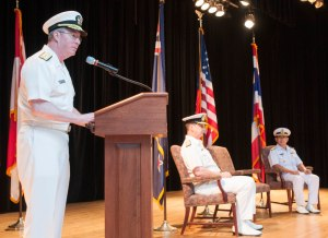 Vice Admiral John W Miller, the US Navy's Fifth Fleet Commander and Commander of the Combined Maritime Forces