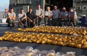 The Boarding Team from HMAS Toowoomba with their haul