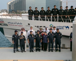Sailors and staff from Journey of Hope with Vice Admiral Miller and Commodore Blount