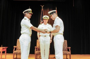 Commodore Sajid Mahmood SI(M) Pakistan Navy hands over command of CTF-150 to Commodore Brian Santarpia Royal Canadian Navy