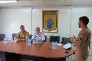 Commander CTF-151 visited the Italian Joint Logistics Base in Djibouti on 9th December 2014