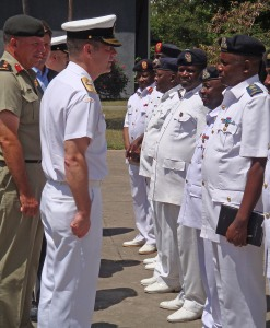 In Dar es Salam, Commodore Santarpia met with senior representatives of the Ministry of Defence and the Tanzanian Navy.