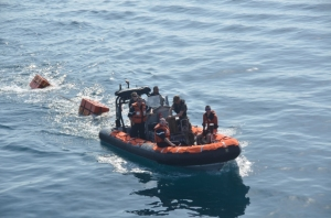 On 12 December 2014, the crew of FS Guépratte practiced their boarding operations off Djibouti prior to conducting maritime security operations around the Arabian peninsula Guépratte's boarding teams can be deployed during maritime security operations to respond to terrorist attacks or stop criminal activities at sea in support of terrorist activities