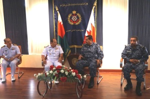 The CMF and Royal Bahrain Naval Force officers held discussions about the security situation in the region
