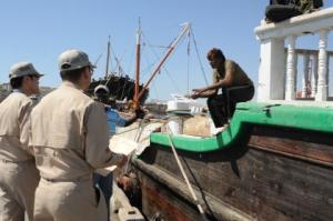 JS Harusame Shore Engagement Team visited to Local fishing vessel at port of call