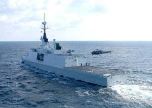 French Ship Guépratte and her Panther helicopter