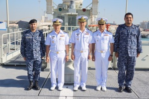 The CMF officers were given a tour of the Royal Bahrain Naval Force base at Mina Salman