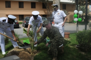Vice Admiral Miller was asked to plant a tree in order to remember the event for the years to come