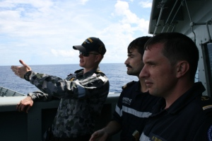 Copyright : EV1 Chopin. These combined exercises were the opportunity for some members of FS Var crew to board on HMAS Newcastle to visit the ship and exchange with their counterparts.