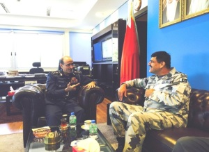 Commander of CTF 151 met Brigadier General Alaa Abdullah Siyadi Commander Coast Guard