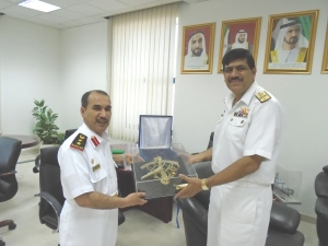 CCTF-151 visited Colonel Staff Abdullah Sultan AL Khozaimi Deputy Director of Naval Operations and Training based at the UAE Armed Force Head Quarters in Dubai