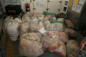 HMAS Newcastle's 19 June 2015 net haul of narcotics seized from a dhow as part of operations involving narcotics interdiction off the east coast of Africa