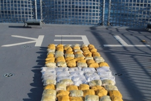 Narcotics laid on on the Quarterdeck of HMNZS Te Kaha