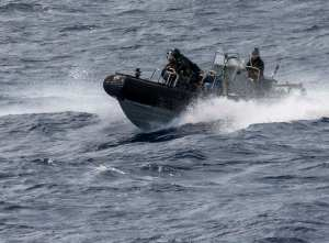 HMAS Newcastle conducts Security Patrol's in the Indian Ocean