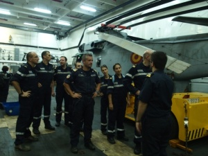 Crew of FS Var and CTF150 staff visit ESPS Galicia