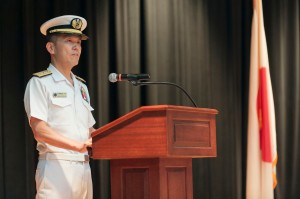 Rear Admiral Ito addresses the CTF151 CoC ceremony