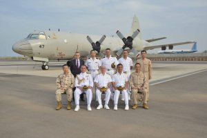 CCTF 151 Rear Admiral Bay visits the Deployment Air Force for Counter-Piracy Enforcement (DAPE), #ReadyTogether.