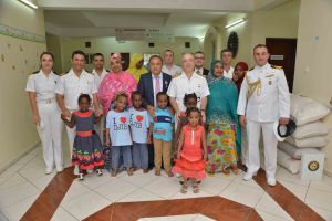 CTF 151 staff and TCG Gemlik crew visited Djiboutian the Daryel Orphanage