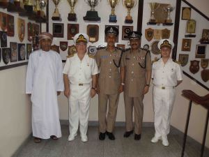 Rear Admiral Ayhan Bay, Commander Combined Task Force 151, visited the Oman Coast Guard Headquarters