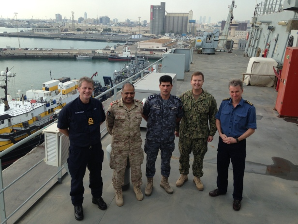 CTF 152 with Cdr Howe and Capt Clarke