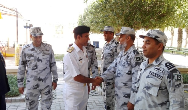 Rear Admiral Muhammad Amjad Khan Niazi Commandant PN War College being introuduced to N Heads of CTF 151