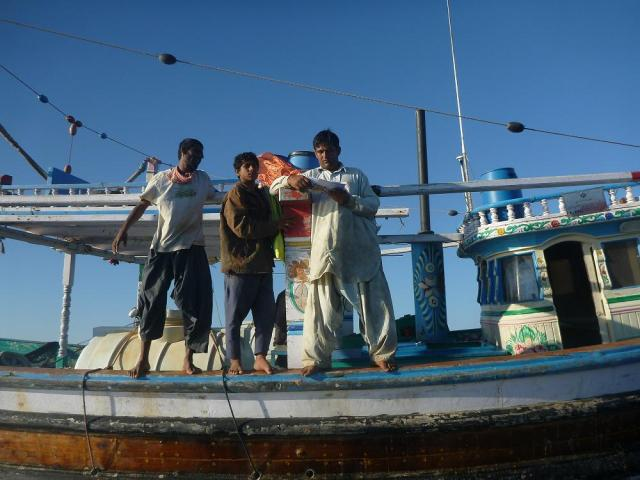 4. Fisherman read with interest how they can help stop illegal maritime activities.