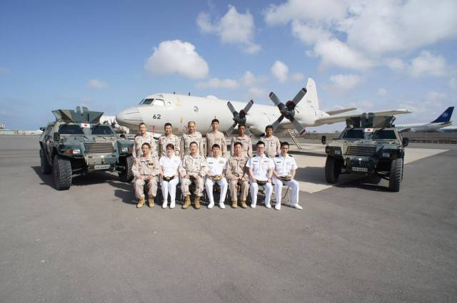 CTF151 staff with JSDF personnel