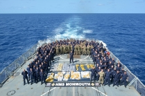 Black Duke ship's company with the recovered drugs