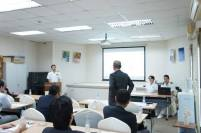 RADM Fukuda answers questions from Japanese business representatives and diplomatic staff in Jeddah