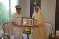 RADM Fukuda meets the Secretary General of the GCC, Abdullatif bin Rashid al Zayani