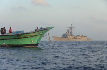 CMF WARSHIP ASSISTS STRANDED FISHERMEN IN THE GULF OF ADEN
